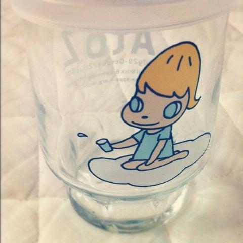 Yoshitomo Nara Graf A To Z奈良美智イラスト入りワンカップ酒