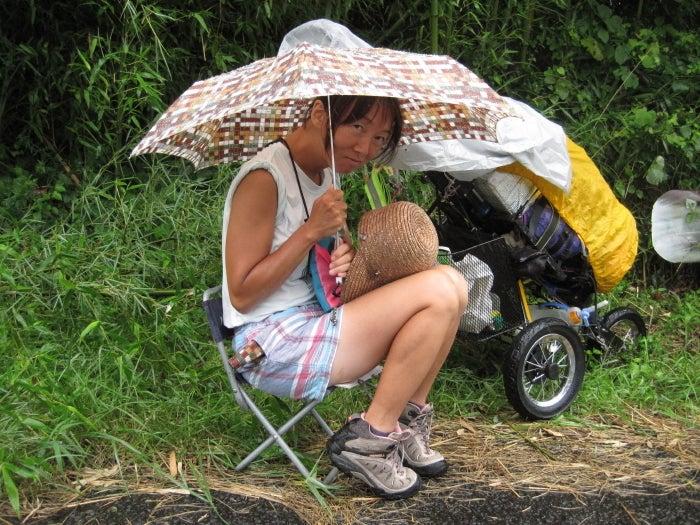 歩き人ふみの徒歩世界旅行 日本・台湾編-雨降り