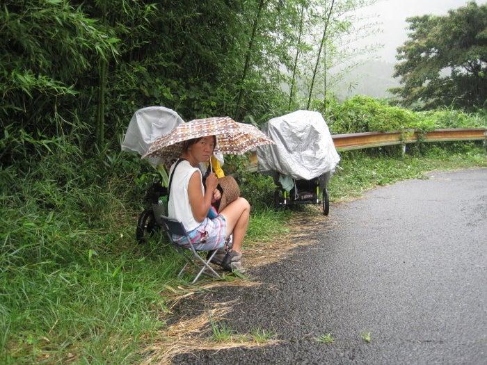 歩き人ふみの徒歩世界旅行 日本・台湾編-突然の雨