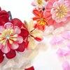 ■七五三用の髪飾り つまみかんざし、きれいな花飾り付きの画像