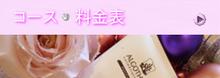 埼玉県飯能市にある隠れ家エステサロン フローラルエッセンス-コース料金バナー