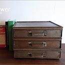 シャビーな書類ケース(Sサイズ)/北欧レトロイームズアンティーク小物入れ収納