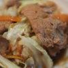 夕食☆回鍋肉 チンゲンサイのピリ辛和え スープ餃子の画像