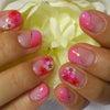 ピンク&フラワー~ネイル&フットの画像