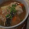 夕食☆たらの味噌汁 イカの塩辛 甘酒の漬け物2日目の画像