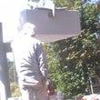 南口鳥居横の 灯篭