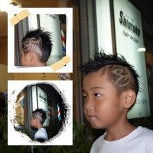 barber shintoko hair design  ヘアカタログblog-キッズラインアート ツーブロック