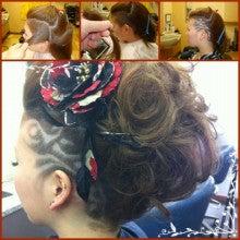 barber shintoko hair design  ヘアカタログblog-刈り上げ女性ライン レザーアート