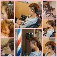 barber shintoko hair design  ヘアカタログblog-刈り上げ女子高生レザーアートHairTattoo