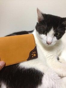 OXIO-CRAFT(オキクラ)の「革雑貨」制作日記-猫名刺