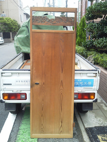 今日の(有)OSCM住宅工房の動き-2012 9 11松城町古建具2