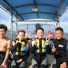台風前に、青の洞窟&パラセーリング♪明日はサンゴビーチで体験ダイビング!!の画像