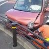 交通事故(>_<)の画像