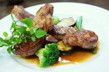 食べて飲んで観て読んだコト+レストラン・カザマ-仔羊のソテー