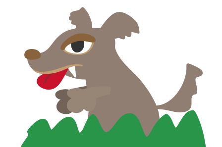 超簡単紙で作れる狼おおかみのイラスト素材の作り方 卒園