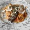 Kiitos!A to Zカードと秋刀魚と茸のスパゲッティ キハチイタリアンにて の画像
