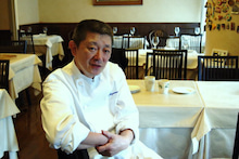 食べて飲んで観て読んだコト+レストラン・カザマ-シェフ