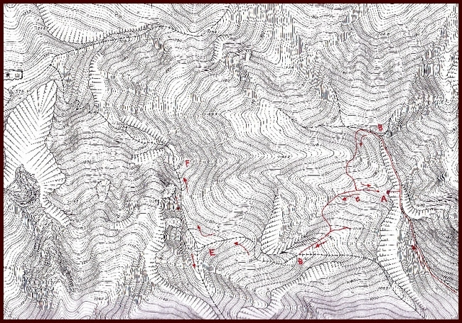 ロフトで綴る山と山スキー-ルート図