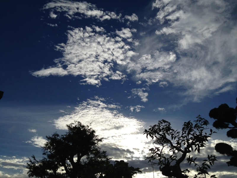 夏から秋にかけての青空画像