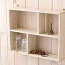 ディスプレイボックスケース/ラック/ボックス木製/壁掛け/おしゃれ飾り棚/ディスプレイ/ホワイト/白/ワイヤー