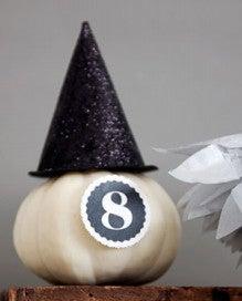 (8) キラキラ魔女帽子のミニかぼちゃの作り方