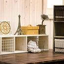 ディスプレイシェルフ(S・L セット)オープンラック/ラック/シェルフ/飾り棚/棚ディスプレイラック/収納/木製/ボックス