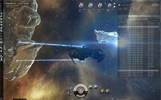 EVE Online 小惑星採掘