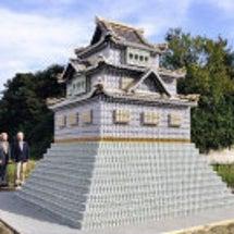 アルミ缶で高取城