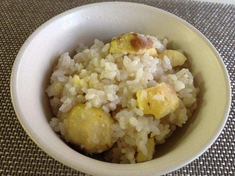 玄米花子のお料理レシピ-栗ご飯