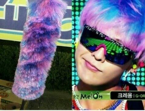 BIGBANGのG,DRAGONの髪がホコリ取りに
