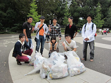 $ゴミュニケーション活動ブログ-6班の記念撮影