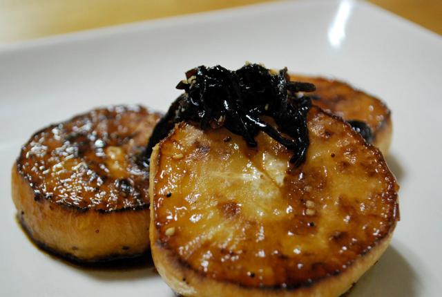 玄米花子のお料理レシピ-大根ステーキ