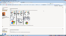 Windowsロゴ→GoogleChromeロゴ