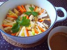 ☆食べ物とココロと体☆鍼灸師とりこはんのブログ-121019野菜たっぷりのミルフィーユ鍋.jpg