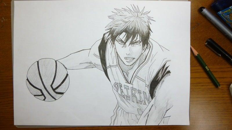 ペンと鉛筆で黒子のバスケの火神描いてみた 咲華朱のブログ