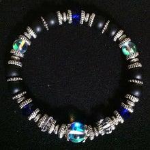 Rumi Collectionのブログ-メンズ フロストオニキス、水晶、ガラスビーズ