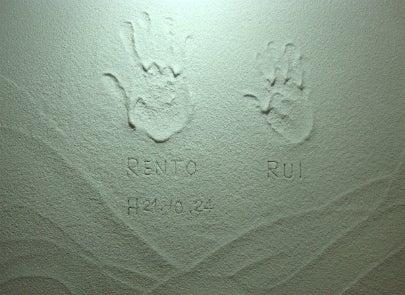 カフェの様に落ち着く・癒される部屋にリフォーム♪自然の珪藻土・漆喰で 塗り壁施工。-豊中・塗り壁塗り6