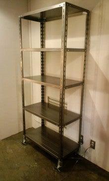 $SCRAP STUDIO PRODUCTS-Brushed Steel Shelf
