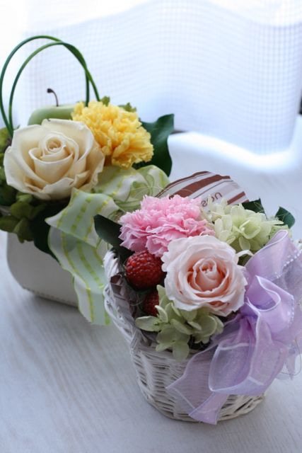 町田横浜のプリザーブドフラワー教室/田園都市線つくし野 花アトリエ フロリュクス