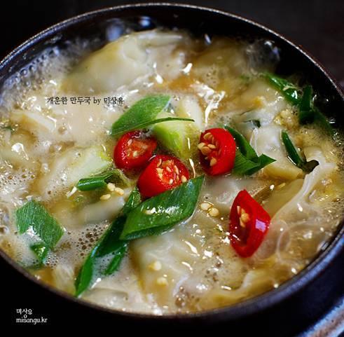 韓国旅行・韓国情報ブログ「アナバコリア」総合版,韓国料理 レシピ マンドゥクッ
