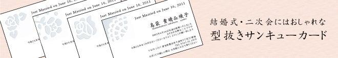 名刺作成・名刺印刷・名刺 デザイン 名刺ブログ-型抜き サンキューカード サンクスカード