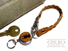OXIO-CRAFT(オキクラ)の「革雑貨」制作日記-リールキーホルダー