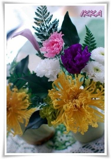 ~IKKA~神戸プリザーブドフラワー教室-プリザーブドフラワー 仏花 供花 仏壇