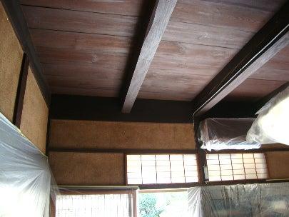 カフェの様に落ち着く・癒される部屋にリフォームして暮らす♪珪藻土・漆喰で 塗り壁施工。-古民家の和室塗り替え2
