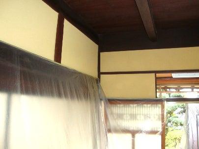 カフェの様に落ち着く・癒される部屋にリフォームして暮らす♪珪藻土・漆喰で 塗り壁施工。-古民家の和室塗り替え5