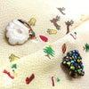 ■Merry Christmas ! クリスマスの可愛らしい和装小物。正絹半衿、七宝焼きの帯留。の画像