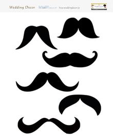 無料テンプレートひげヒゲ髭絵イラスト