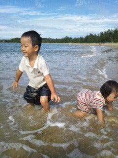 西表島ダイビング あべちゃん海ブログ  「にこにこダイビング」-ビーチで