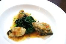 食べて飲んで観て読んだコト+レストラン・カザマ-牡蠣のムニエル