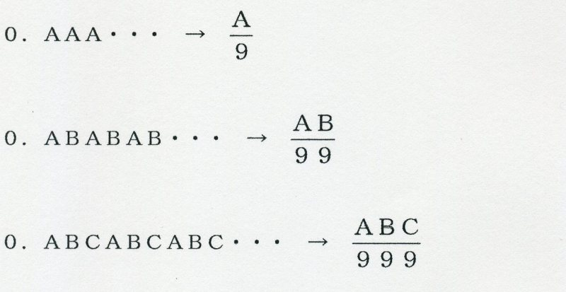 算数 算数 単位換算 : 4-4 循環小数を分数に直す ...